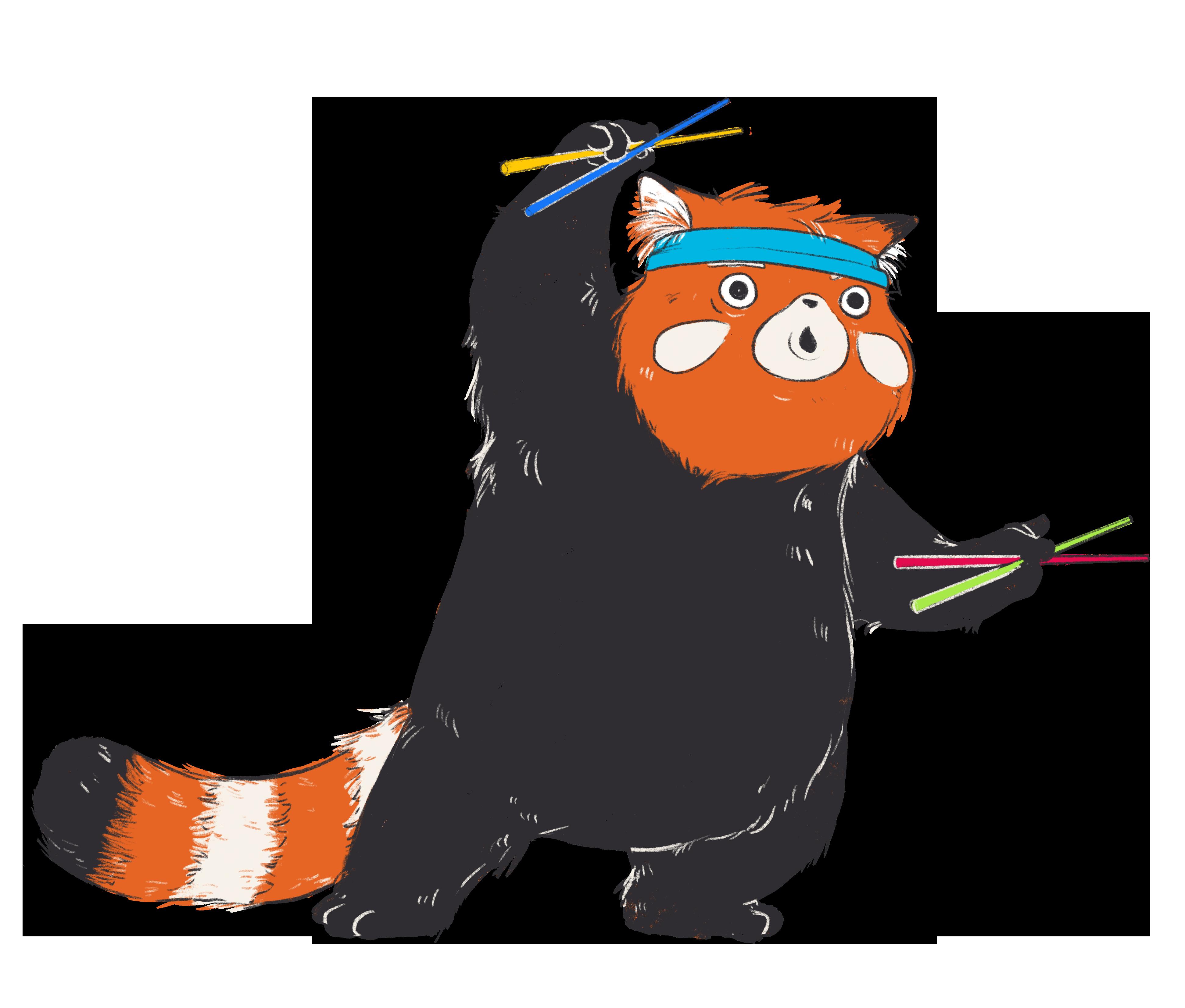 Stäbchen Karate Panda