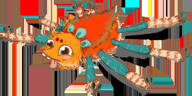 rote Spinni erschöpft Kopie